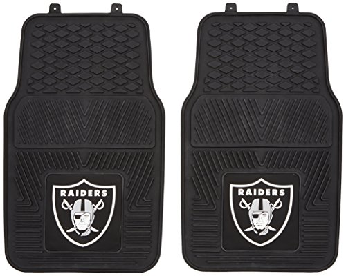 FANMATS NFL Oakland Raiders Vinyl Heavy Duty Car Mat -