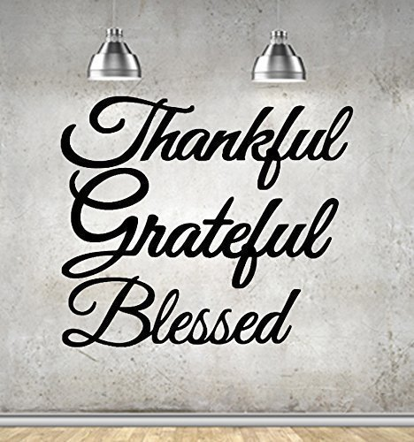 (Thankful - Grateful - Blessed Wall Art. Set of 3 Metal Steel Signs Great Gifts!)