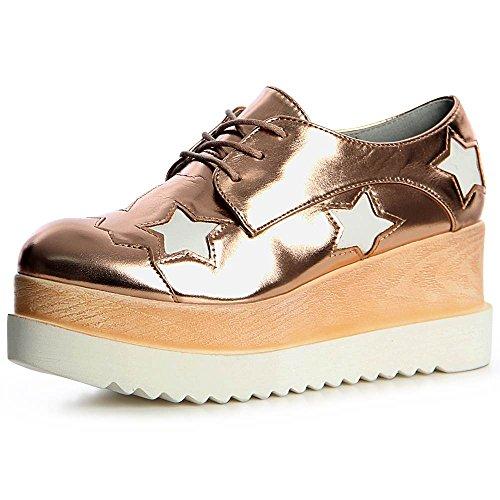 Rose Chaussures Femmes Mocassins Topschuhe24 Or gqZIx5