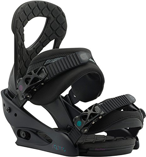 Burton Stiletto Snowboard Bindings Black Matte Womens Sz M (6-8)