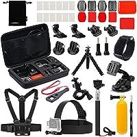 Kit de accesorios Luxebell para cámara de acción WiFi AKASO EK5000 EK7000 4K Gopro Hero 7 6 5 Fusion Session 5 Black Sliver Hero 4/3 + /3/2/1 (22 en 1)
