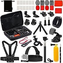 Luxebell Accessories Kit for AKASO EK5000 EK7000 4K WIFI Action Camera Gopro Hero 5/Session 5/Hero 4/3+/3/2/1 (22-in-1)
