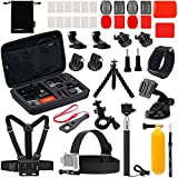 Luxebell Accessories Kit for AKASO EK5000 EK7000 4K WiFi Action Camera Gopro Hero 7 6 5 Fusion Session 5 Black Sliver Hero 4/3+/3/2/1 (22-in-1)