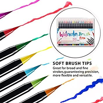 20 Color de la Pintura de Alta Calidad Suave Pincel Lápiz de ...