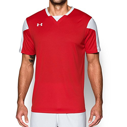 (Under Armour Men's Maquina Jersey, Red (600)/White, Large)