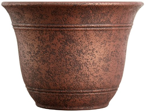 living accents sra16001p05 sierra planter rustic redstone 16inch width - Large Ceramic Planters