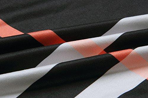 Outerwear E Invierno Parka Chaqueta Negro Largo Túnica A Modernas Chaquetas Irregular Cuadros Cardigan Otoño Vintage Cárdigans De Classic Larga Casual Abrigos Mujer Manga xfHUB