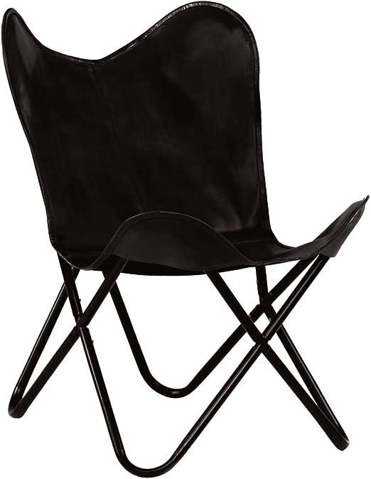 : Festnight Butterfly Sessel | Relaxstuhl Echtleder