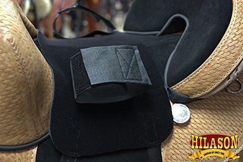 HILASON Anti Slip Grip Horse Saddle Seat Cover Barrel Trail Riding Black