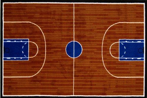 Fun Rugs Fun Time Basketball Court Rug - Fun Basketball Time