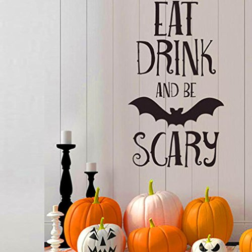 HOT Sale!Halloween Letters Wall Sticker,Canserin Window Home Decal Decor