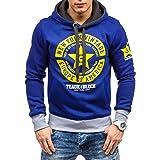 Seastar Men's Star Printed Hooded Sweatshirt Fashion Hoodie