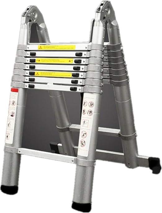 BD.Y Escalera Multiusos fácil de Usar Escalera telescópica Extensión de Aluminio Escaleras portátiles Extensibles Multiusos para constructores de Interior y Exterior (Color: A, Tamaño: 1.6M): Amazon.es: Hogar