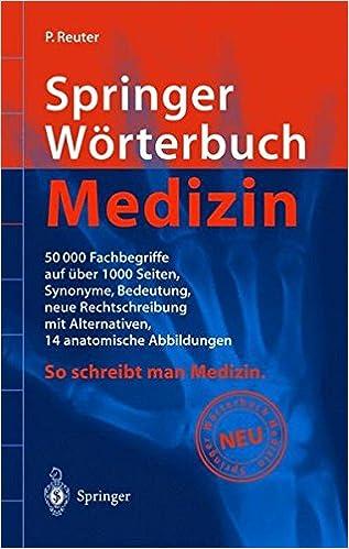 Springer Wörterbuch Medizin: Amazon.de: P. Reuter: Bücher