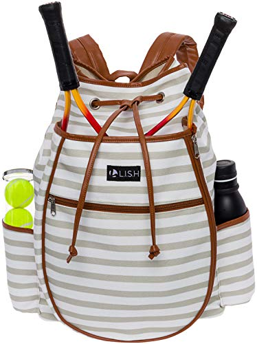 LISH Down the Line Canvas Tennis Racket Backpack - Women