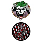 DC Comics Justice League The Joker - Harley Quinn 3 Pack Patch Gift set