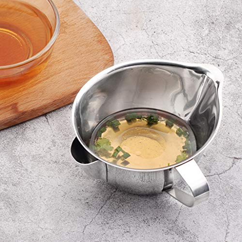 Staron Oil Separation Strainer With Handle Oil Separator Cooking Grease Fat StainlessSteel Oil Bowl Soup (160g/5.64oz) by Staron  (Image #4)