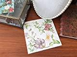 WallyE Decoupage Napkins, Flower and Butterfly