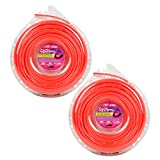 Cyclone Desert Extrusion CY155D1 .155'' x 105' Commercial Line Red [12/Case] (2-Pack)