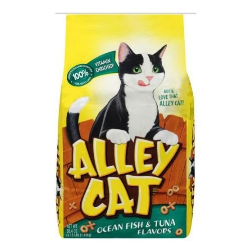 Alley Cat Ocean Fish and Tuna Dry Cat Food, 3.15 Pound — 12 per case.