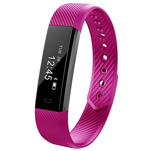 Kybeco Fitness Tracker Water Resistant Smart Activity Wristband with Pedometer Calorie Tracking Sleep Monitoring for iPhone and Android Phone (Purple)