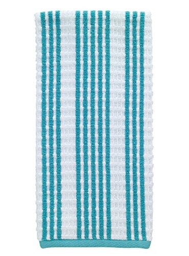 Textiles Kitchen (T-fal Textiles Striped Waffle 100% Terry Cotton, Highly Absorbent, Anti-Microbial, Oversized Kitchen Towel, 16