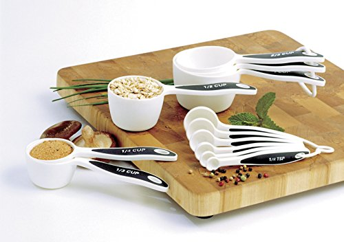 Norpro 3042 Measuring Cup & Spoon Set-soft Grip 12pc Set