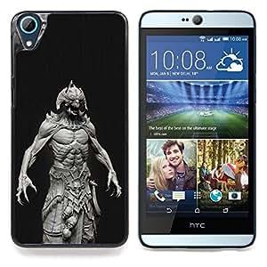 """Monster Satanás Abs Hombre Demonio Negro"""" - Metal de aluminio y de plástico duro Caja del teléfono - Negro - HTC Desire 626 626w 626d 626g 626G dual sim"""
