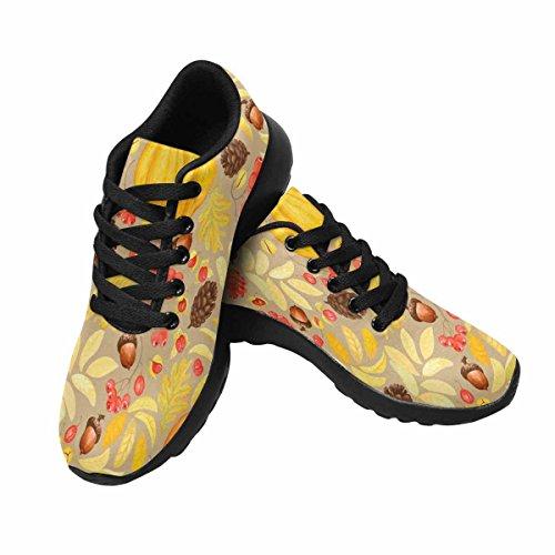 InterestPrint Womens Jogging Running Sneaker Lightweight Go Easy Walking Comfort Sports Athletic Shoes Pumpkins,Acorns,Pine Cones,Rowan and Oriental Bittersweet Multi 1