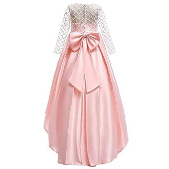 Amazon.com: Feicuan Girls Bowknot Lace Princess Dress ...