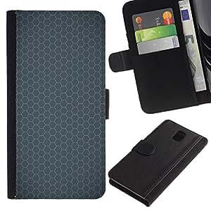 Planetar® Modelo colorido cuero carpeta tirón caso cubierta piel Holster Funda protección Para SAMSUNG Galaxy Note 3 III / N9000 / N9005 ( Simple Pattern 24 )