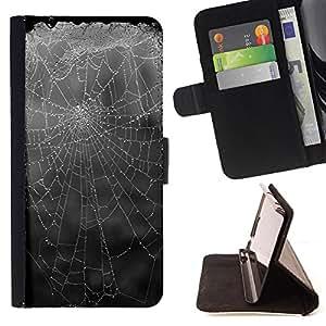Super Marley Shop - Funda de piel cubierta de la carpeta Foilo con cierre magn¨¦tico FOR Samsung Galaxy S3 MINI I8190- Spider