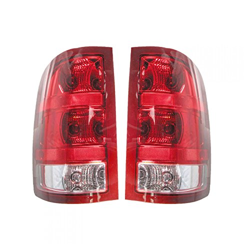 Taillamps Taillights Left Right Pair Set Rear for 07-13 GMC Pickup Truck Sierra