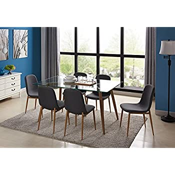 Fabulous Amazon Com Ids Home Kitchen Dining Table Set For 6 With Onthecornerstone Fun Painted Chair Ideas Images Onthecornerstoneorg