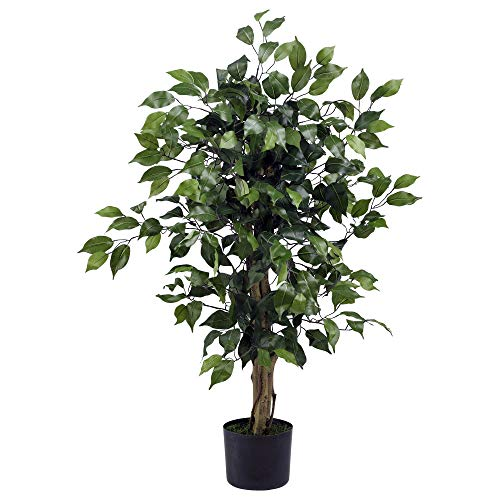 Nearly Natural 5298 Ficus Silk Tree, 3-Feet, Green (Indoor Plants Faux)