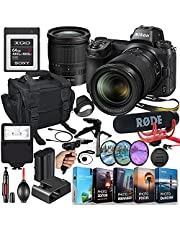 Nikon Z6 Mirrorless Digital Camera with 24-70mm Lens MFR #1598 Video Makers Bundle - Rode Video Mic Go + 64GB Memory + Flash, Bag, Tripod, HD Filters, Video/Photo Editing Software Package & More