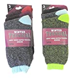 thermal sock for woman - 6 Pair Women's Ladies Warm Thermal Socks with Heat Trap Technology Assorted Beautiful Colors, USA Size 9-11