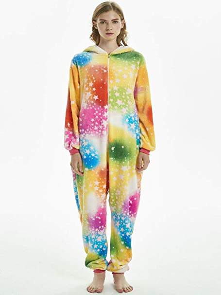 Amazon.com: QQonsie Adult Onesies for Women Unicorn Pajamas Men Teen Girl Halloween Costumes: Clothing