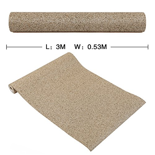 HANMERO Luxury Design Vermiculite Mica Stones Wallpaper Wall Covering for Home, Bedroom, Dining Rooms and Hotel Wall Art Wall Decoration - MC (300cm x 53cm) Modern Designer Wall Paper (Beige) by HANMERO (Image #3)