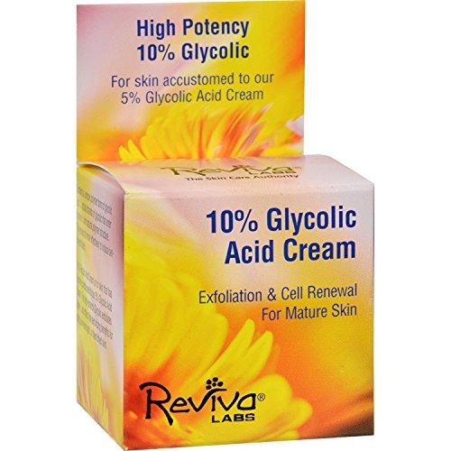 5% Glycolic Acid Cream - Reviva Labs 10% Glycolic Acid Renaissance Cream - 1.5 oz
