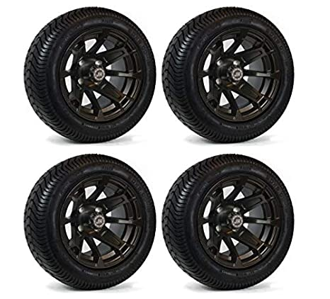 Amazon.com: Carrito de golf ruedas de color negro mate de 12 ...