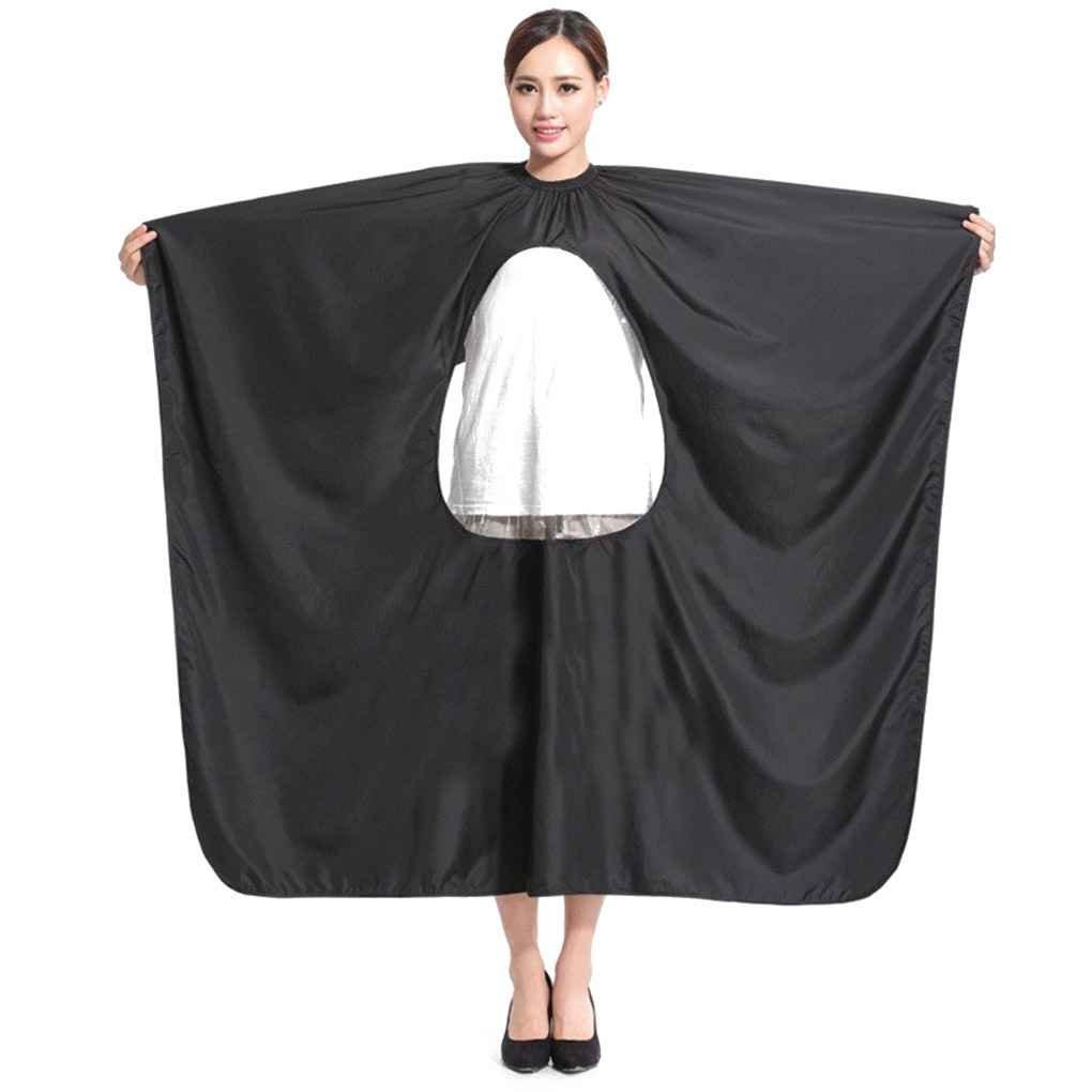 Babysbreath Salón de peluquería para adultos Peluquería Peluquería Pelucas Cape Gown Impermeable Barber Cover Cloth Cubiertas transparentes blanco
