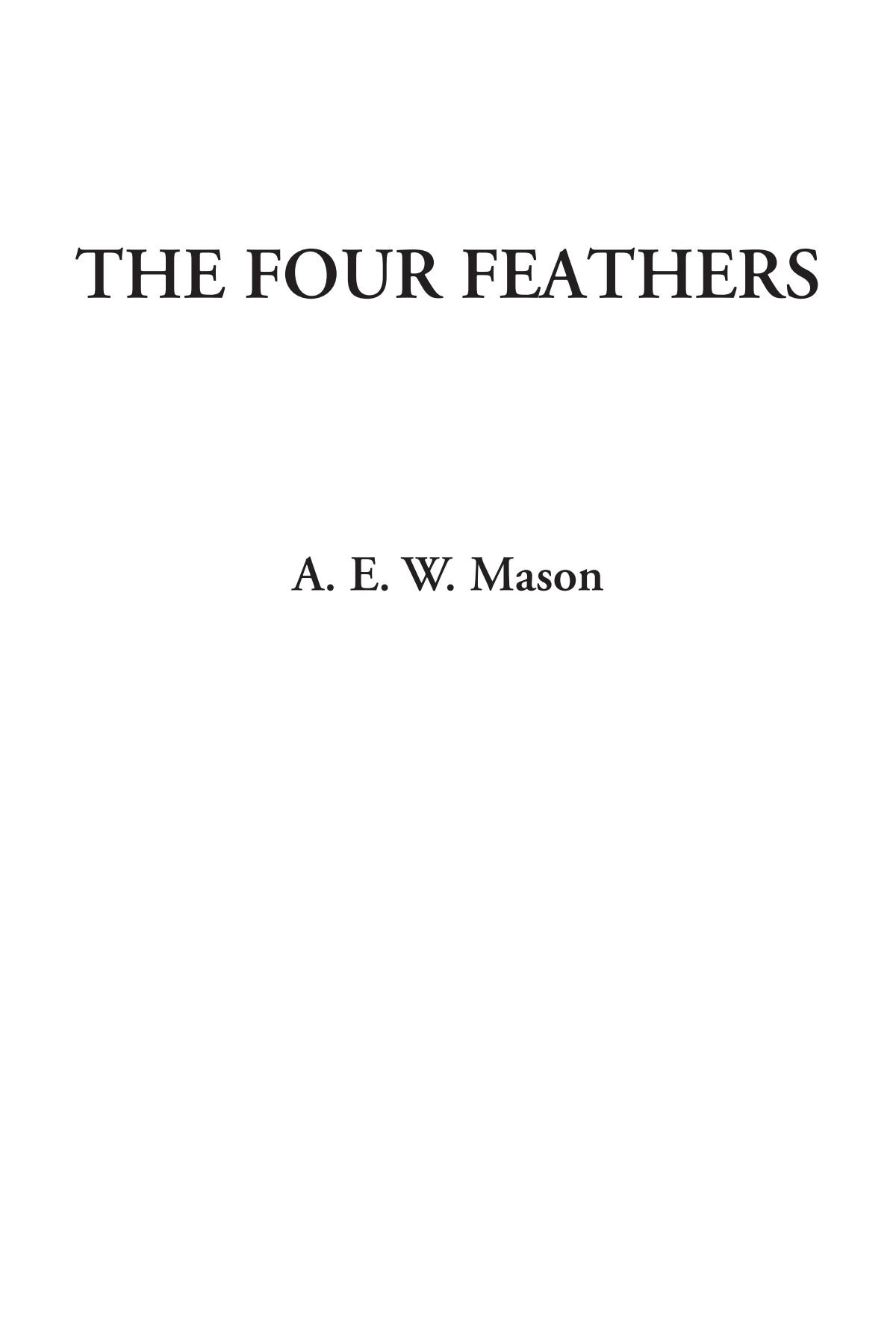 Download The Four Feathers pdf