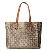 Tommy Hilfiger Women's Kelby Tote Tan/Dark Chocolate One Size