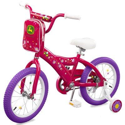 John Deere Coasters - John Deere ERTL 16 inch Girls Bicycle