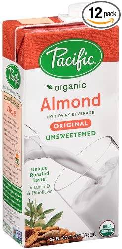 4. Pacific Foods Organic Almond Milk Unsweetened Original