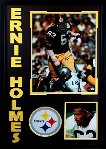(Ernie Holmes Pittsburgh Steelers Autograph Signed Custom Framed 26x36 Photo PSA/DNA Certified )
