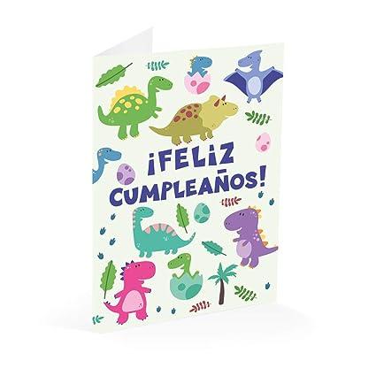 Erik Editores- Tarjeta Felicitacion Cumple Dino (TF0322 ...