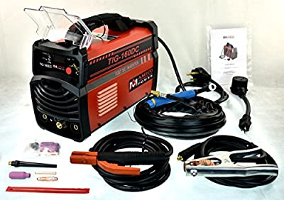Amico 160 Amp TIG Torch Stick Arc 2-in-1 Inverter DC Welder 230/110V Dual Voltage Welding TIG-160DC