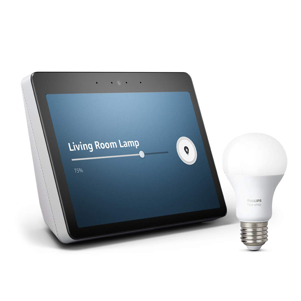 All-new Echo Show (2nd Gen) Bundle with free Philips Hue Bulb - Sandstone